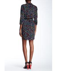 Diane von Furstenberg - Black Caprice Wrap Dress - Daisy Buds Tiny Multi/dotted B - Lyst
