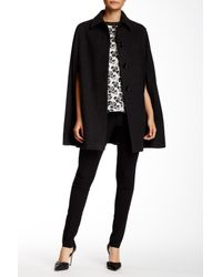 Charles Gray London | Black Spread Collar Cape | Lyst
