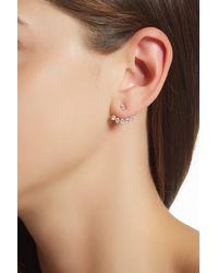 Nadri - Metallic Cz Front To Back Ear Jackets - Lyst