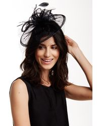 San Diego Hat Company | Black Sinemay Fascinator | Lyst