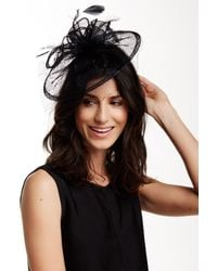 San Diego Hat Company - Black Sinemay Fascinator - Lyst