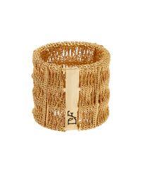 Diane von Furstenberg | Metallic Thea Cage Mesh Ring - Size 7 | Lyst