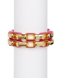 Diane von Furstenberg | Multicolor Gabby Double Row Link Bracelet | Lyst