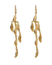 Diane von Furstenberg - Metallic Lip Chandelier Earrings - Lyst
