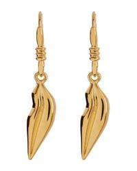 Diane von Furstenberg - Metallic Single Lip Dangle Earrings - Lyst