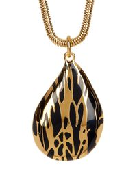 Diane von Furstenberg - Metallic Large Dew Drop Pendant Necklace - Lyst