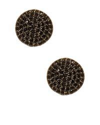 Adornia - Metallic Sterling Silver Anika Black Spinel Stud Earrings - Lyst