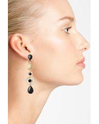 Zenzii - Black Linear Drop Earrings - Lyst