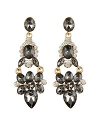 Cara - Metallic Large Hinged Drop Earrings - Lyst