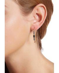 Sparkling Sage - Multicolor Bead Detailed Hook Drop Earrings - Lyst