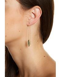 Melinda Maria | Metallic Jasmine Chain Ear Threaders | Lyst