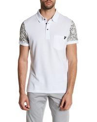 Versace | White Printed Sleeve Polo for Men | Lyst