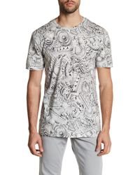 Versace | Gray Printed Tee for Men | Lyst