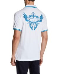 Versace - Multicolor Embroidered Polo for Men - Lyst