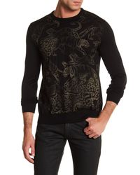 Versace Jeans | Black Tiger Print Sweater for Men | Lyst