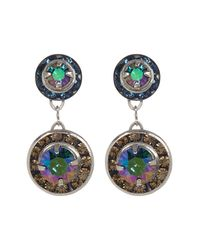 Sorrelli | Multicolor Delicate Swarovski Crystal Accented Drop Earrings | Lyst