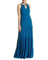 Ella Moss | Blue Gauze Paneled Maxi Dress | Lyst