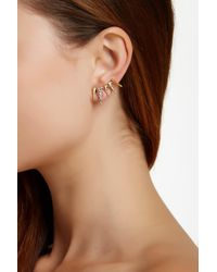 Sam Edelman - Brown Pave Spike Ear Cuffs - Lyst