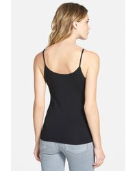 Eileen Fisher - Black Scoop Neck Camisole - Lyst