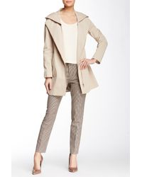 SOIA & KYO | Natural Asymmetric Zip Rain Jacket | Lyst