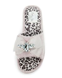 Pretty You London - Multicolor Elodie Bow Slipper - Lyst