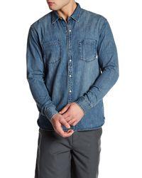 Quiksilver | Blue Long Sleeve Denim Modern Fit Shirt for Men | Lyst