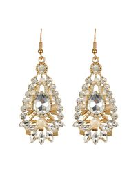 Cara | Metallic Teardrop Large Drop Earrings | Lyst