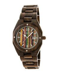 Earth Wood - Multicolor Unisex Cypress Skateboard Dial Eco-friendly Sustainable Wood Quartz Bracelet Watch - Lyst