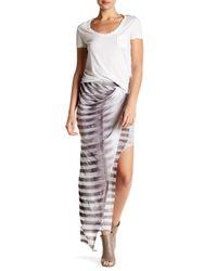 Helmut Lang | Gray Asymmetrical Print Skirt | Lyst