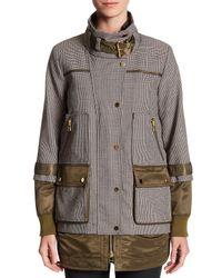 Veronica Beard - Brown Freesia Combo Sleeve Jacket - Lyst