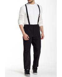 Y-3 - Black Suspender Pant for Men - Lyst