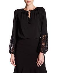 T Tahari | Black Essex Blouse | Lyst