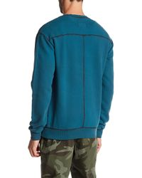 Stonefeather - Blue Garment Dye Sweatshirt for Men - Lyst