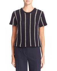 Theory - Blue 'ibisco Emmeris' Short Sleeve Cotton Sweater - Lyst