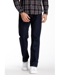 Gilded Age - Blue Distressed Straight Fit Selvedge Jeans for Men - Lyst