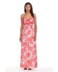 Amsale - Multicolor 'amore' Floral Print Silk Chiffon Gown - Lyst