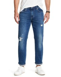 Joe's Jeans | Blue Brixton Distressed Slim Fit Jean for Men | Lyst