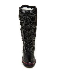 Pajar - Black Grip Tall Faux Fur Lined Boot - Lyst