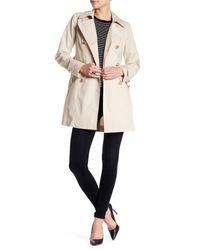 Vince Camuto | Natural Military Trench Coat (petite & Regular) | Lyst