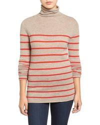 Halogen | Multicolor Wool & Cashmere Funnel Neck Sweater | Lyst