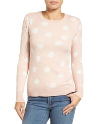 Halogen   Pink Graphic Pullover (petite)   Lyst