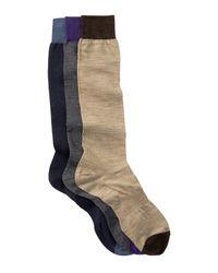 Hook + Albert | Multicolor Solid Knee Socks - Pack Of 3 for Men | Lyst