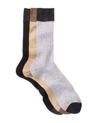 Hook + Albert - Multicolor Ribbed Crew Socks - Pack Of 3 for Men - Lyst