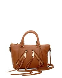 Rebecca Minkoff | Brown Micro Moto Leather Crossbody Satchel | Lyst