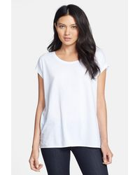 Stem - White Scoop Neck Knit Tee - Lyst