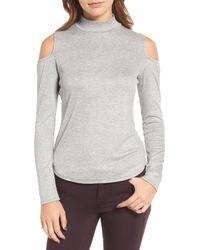 Trouvé | Gray Cold Shoulder Knit Top | Lyst
