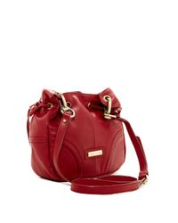 Isabella Fiore - Red Penelope Leather Crossbody - Lyst