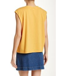 MINKPINK - Yellow Hang Time Tank - Lyst