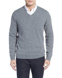 John W. Nordstrom   Gray Cashmere V-neck Sweater (regular & Tall) for Men   Lyst