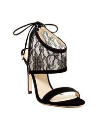 Ivanka Trump | Black Daza Ankle Cuff Sandal | Lyst
